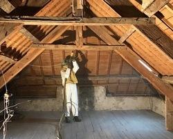Sablage charpente bois - Vannes - STRB
